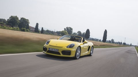 Porsche Boxster Spyder, le immagini