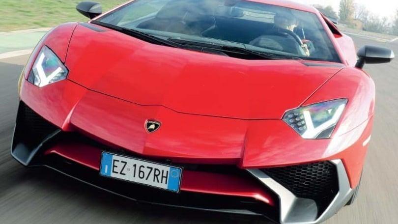 Lamborghini Aventador SV, prova su strada