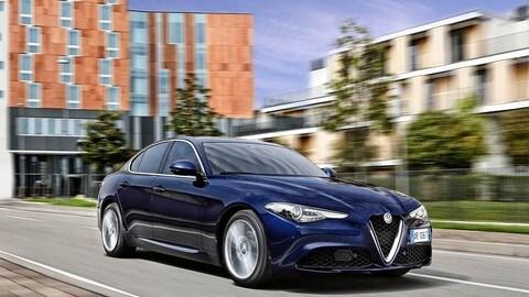 Alfa Romeo Giulia su strada