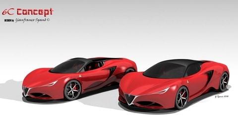 Alfa Romeo 6C Concept by Gianfranco Spanò: foto