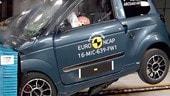 Crash test microcar, attenzione alla sicurezza
