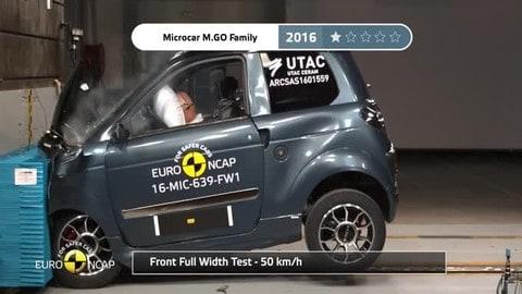 Crash test, le microcar messe alla prova