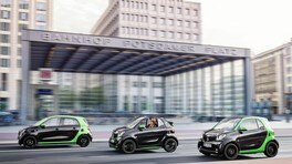 Smart fortwo, cabrio e forfour electric drive: foto