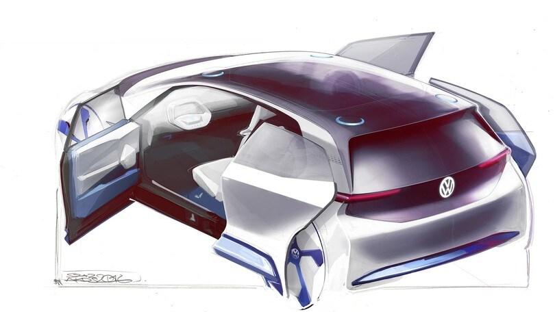 Volkswagen EV Concept, i primi bozzetti dell'auto del nuovo corso