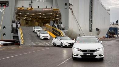 Honda Clarity fuel cell, arrivano in Europa le prime