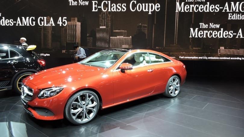 Mercedes Classe E Coupé, stile e tecnologia a Detroit