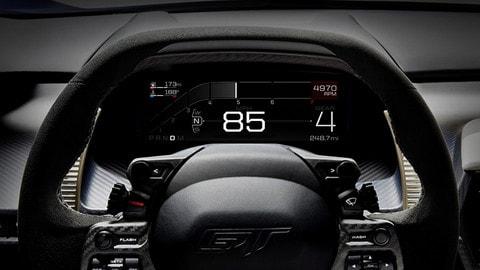 Ford GT, le meraviglie del display digitale
