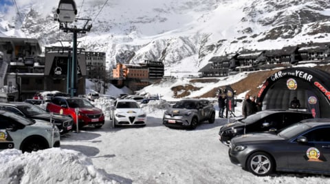 Car of the Year: a Cervinia è tutto pronto  per il week-end con le 7 finaliste