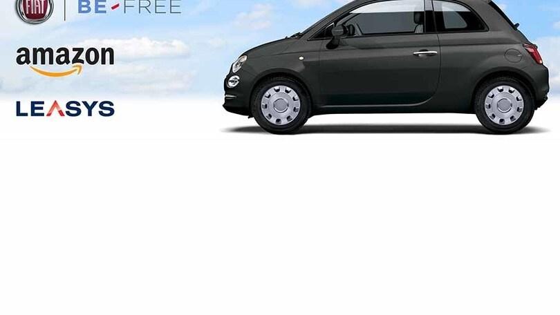Fiat e Amazon per il noleggio a lungo termine con Be-Free