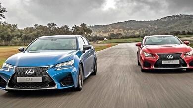 Lexus Gs e Rc F, il piacere del V8 a benzina old style