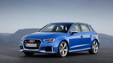 Audi, ecco il tris di sportive 5 cilindri da 400 cv