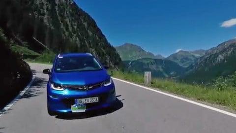 Opel Ampera-e al Silvretta E-Rallye 2017
