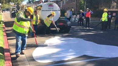 Strade bianche contro il caldo a Los Angeles