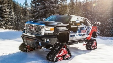 Sierra GMC 2500HD All Mountain Concept, pick up delle nevi