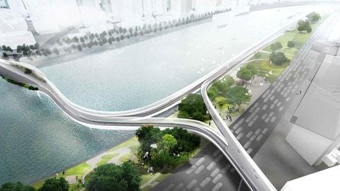 BMW Vision E3 Way, la sopraelevata per le due ruote elettriche