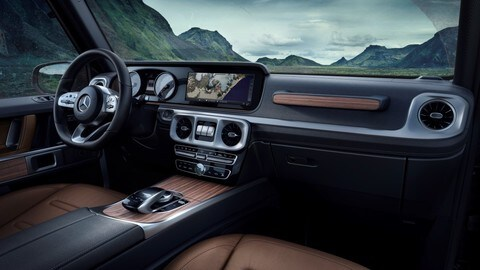 Interni di nuova Mercedes Classe G, tocco business