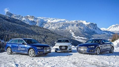 Con Audi g-tron e Care's in Alta Badia, le foto