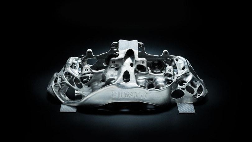 Effetti speciali, 3D e titanio per i freni Bugatti Chiron