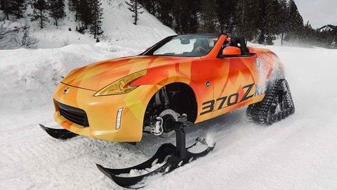 Nissan 370Zki, la roadster diventa un gatto delle nevi