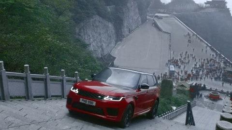 Range Rover Sport, arrampicata ibrida