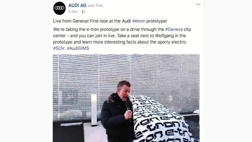 Audi e-tron Prototype, il suv appare a Ginevra
