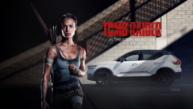 Volvo XC40 protagonista nel nuovo film Tomb Raider