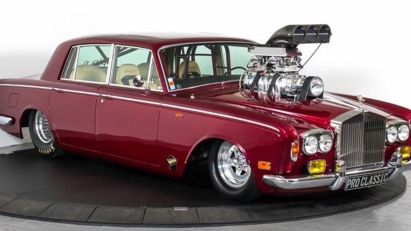Rolls Royce Silver Shadow, dragster regale: foto