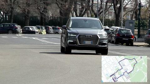 Con Audi Q7 e-tron tra le curve dell'e-prix di Roma