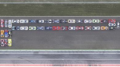 La Grande P, ottanta metri di Pirelli a Monza