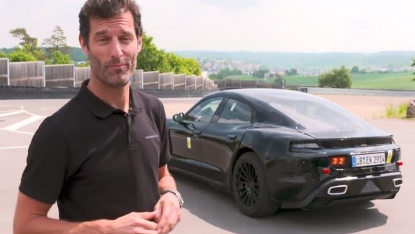 Porsche Mission E, Webber tester per la gran turismo elettrica