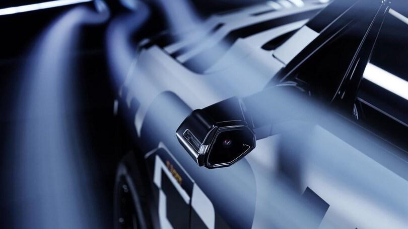 Audi e-tron suv: telecamere con vista