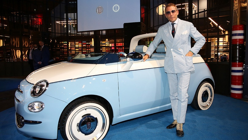 Fiat & Lapo Elkann (Garage Italia) festeggiano la 500 Spiaggina