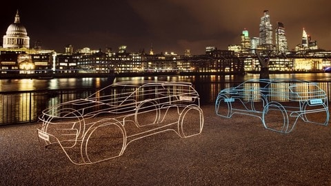 Range Rover Evoque 2019: le installazioni artistiche