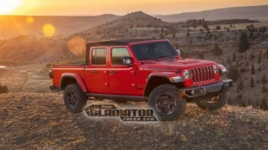 Jeep Gladiator, pick-up stile Wrangler