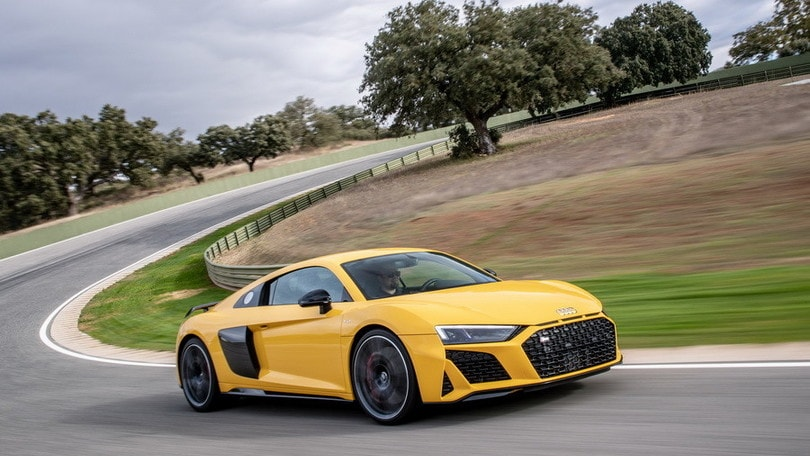 Audi R8 V10 Performance, la prova in pista
