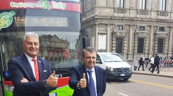 A spasso per le città d'Italia con il primo bus elettrico