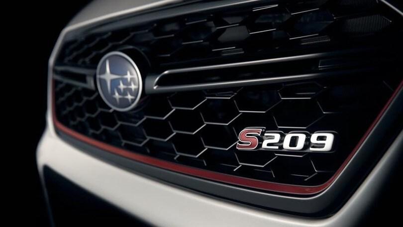 Subaru WRX STI S209, versione estrema al Salone di Detroit