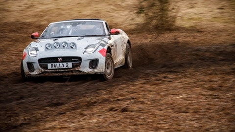 Video: Jaguar F-Type Rally, a tutto fango