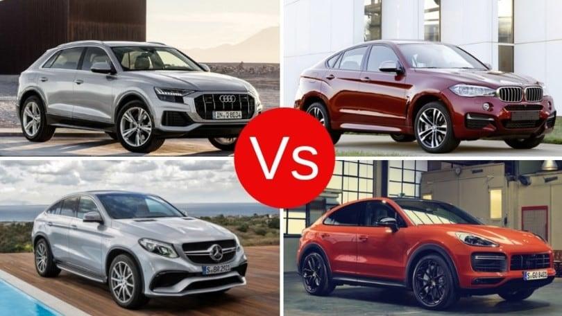 Audi, BMW, Mercedes, Porsche: sfida a quattro tra i grandi SUV-coupé