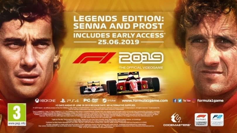 'F1 2019: Legends Edition', Senna e Prost rivali di sempre