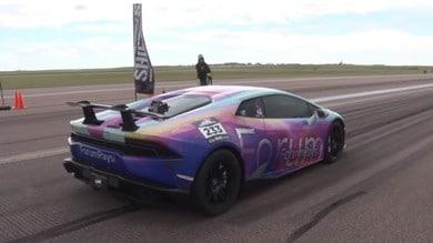 Lamborghini Huracan da 3000 CV a più di 400 orari: VIDEO
