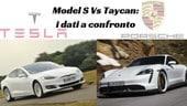 Tesla Model S e Porsche Taycan Turbo S, super elettriche a confronto