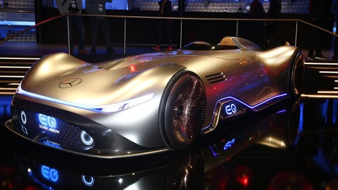Mercedes-Benz Vision EQ Silver Arrow al Salone di Francoforte 2019: LE FOTO