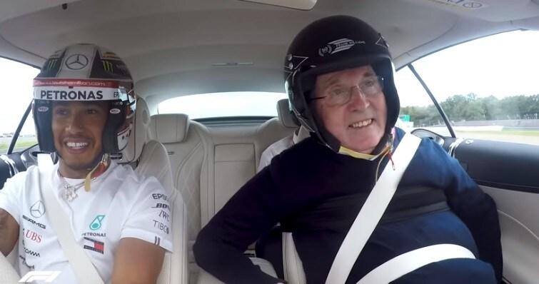 Hamilton, Frank Williams e quel giro sulla Mercedes-AMG S 63