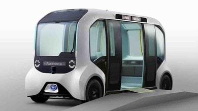 Toyota e-Palette Tokyo 2020, bus elettrico e autonomo