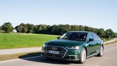 Audi A8 e quattro, l'ibrido plug-in arriva sulla Lunga