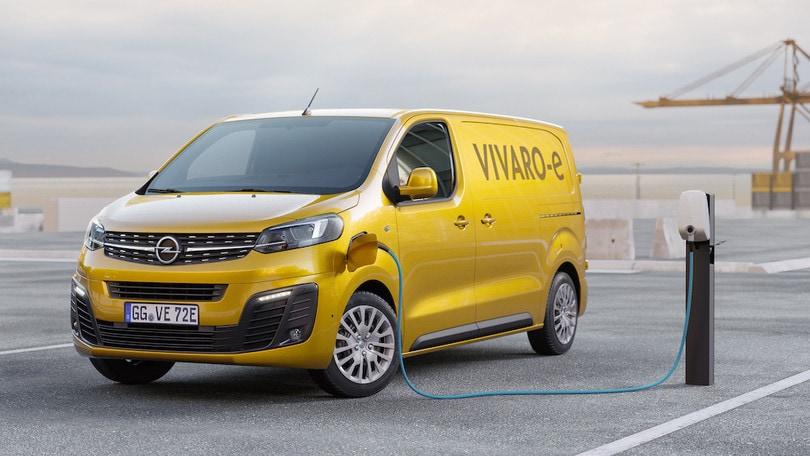 Opel Vivaro-e, il van elettrico in due taglie di batteria
