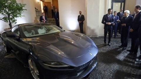 Ferrari Roma dal Presidente della Repubblica: Foto