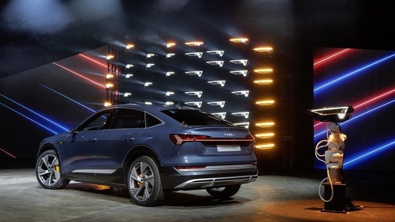 Audi e-tron Sportback, geniale illuminazione