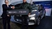 Hyundai Nexo, record di autonomia a idrogeno: 778 km